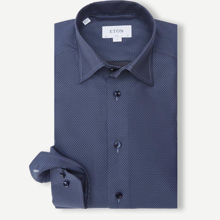 3052 Signature Twill Skjorte - Skjorter - Blå