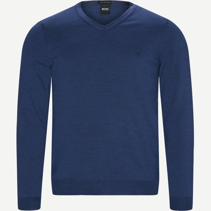 Baram-L Striktrøje - Strik - Regular - Denim