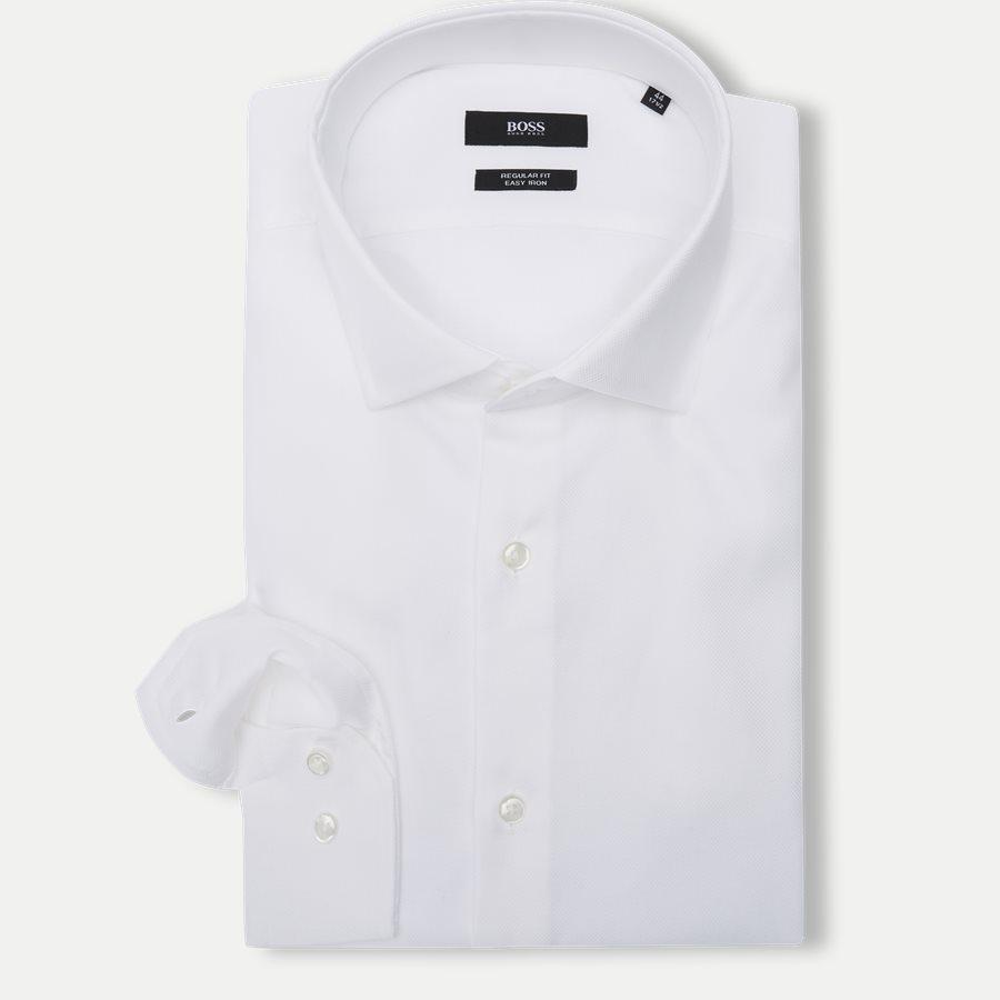 50415630 GORDON - Gordon Skjorte - Skjorter - Regular - HVID - 1