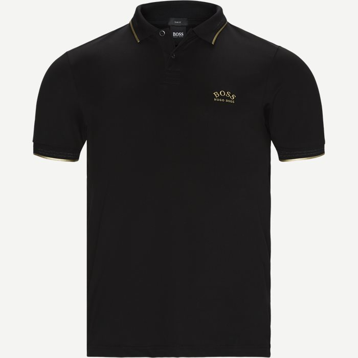 Paul Curved Polo T-shirt - T-shirts - Slim - Sort
