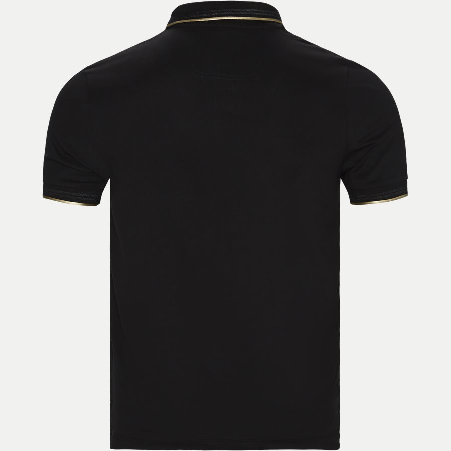 50412675 PAUL CURVED. - Paul Curved Polo T-shirt - T-shirts - Slim - SORT/GULD - 2