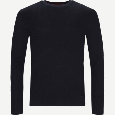 Smulton Crew-Neck Sweater Regular | Smulton Crew-Neck Sweater | Blå