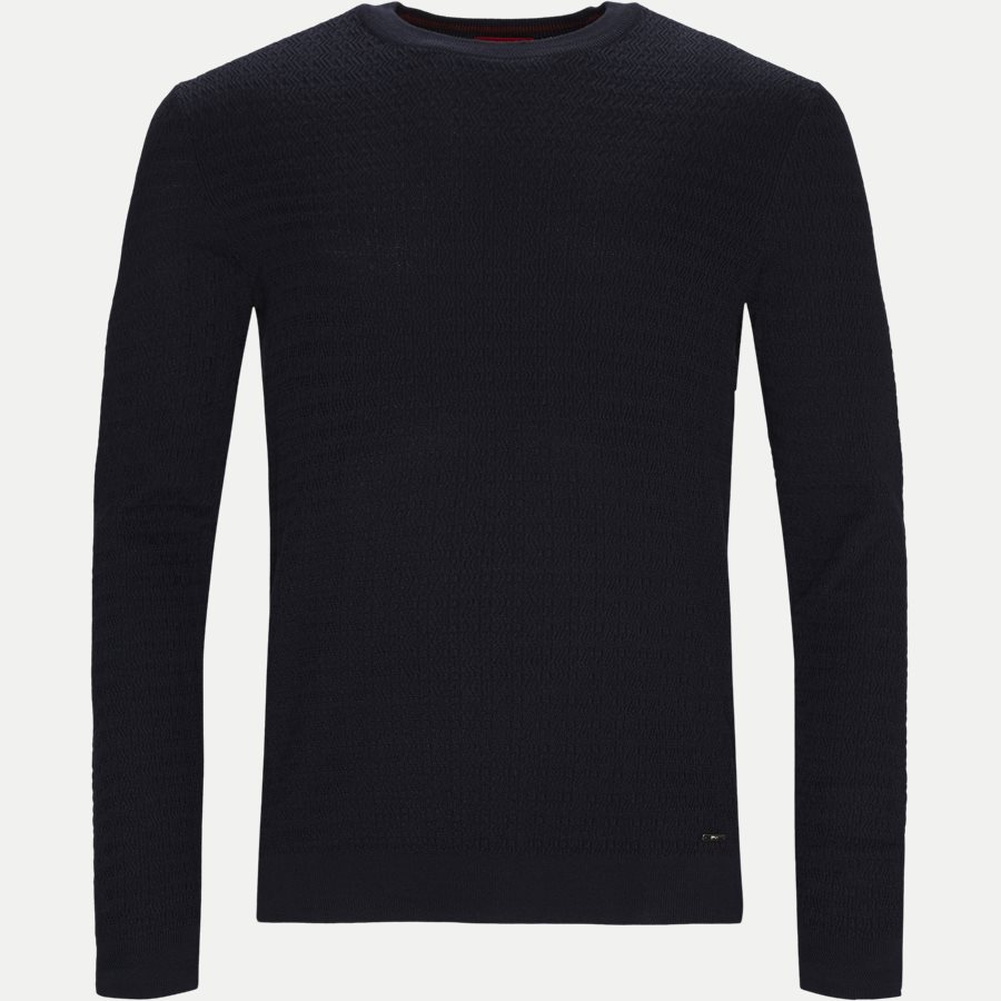 50414449 SMULTON - Smulton Crew-Neck Sweater - Strik - Regular - NAVY - 1