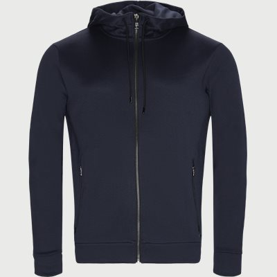 Doshan Zip Sweatshirt Regular | Doshan Zip Sweatshirt | Blå