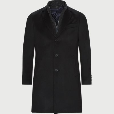 Cashmere Coat Sultan Tech Regular | Cashmere Coat Sultan Tech | Sort