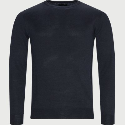 Merino JC Two Tone Sweater Regular | Merino JC Two Tone Sweater | Blå