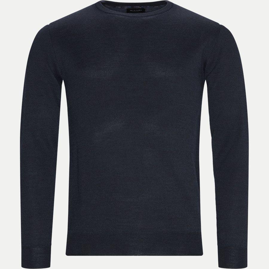 MERINO JC TWO TONE IQ - Merino JC Two Tone Sweater - Strik - Regular - NAVY - 1