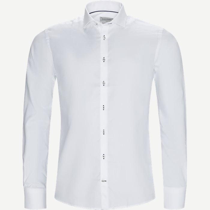 Mark Skjorte - Skjorter - Slim - Hvid