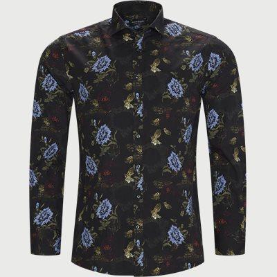 Larsen Skjorte Modern fit   Larsen Skjorte   Sort