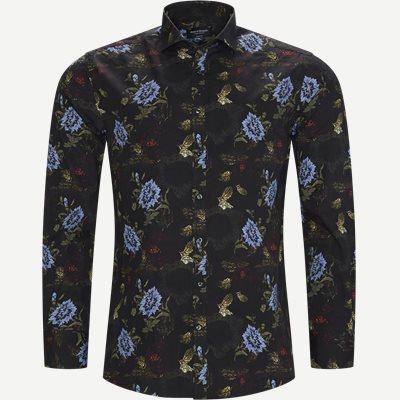 Larsen Skjorte Modern fit | Larsen Skjorte | Sort