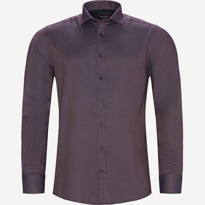 Hemden - Modern fit - Weinrot