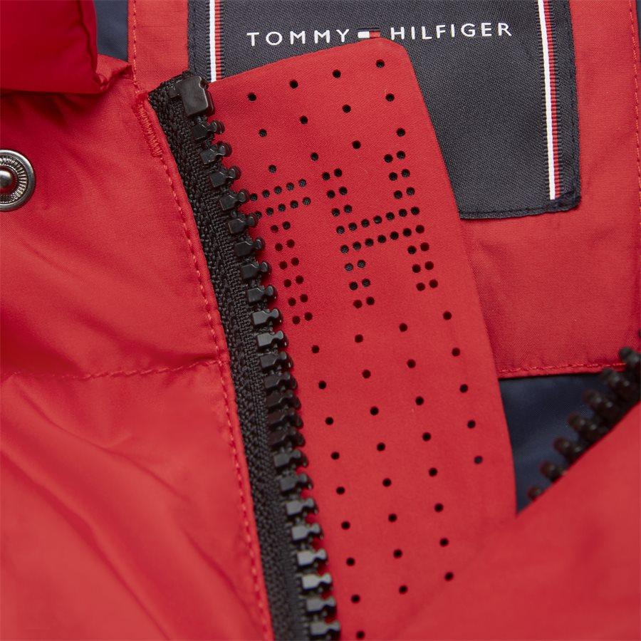 TOMMY HOODED BOMBER - Tommy Hooded Bomber Jacket - Jakker - Regular - RØD - 9