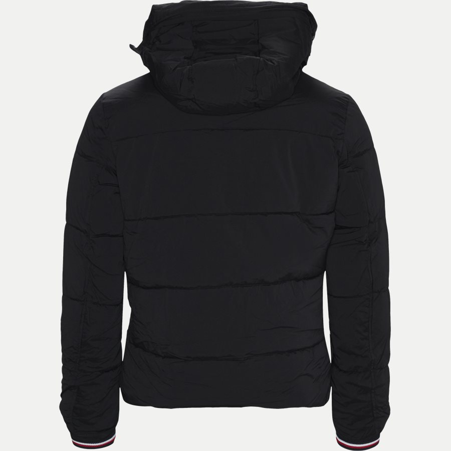 STRETCH NYLON HOODED BOMBER - Jackets - Regular - SORT - 2