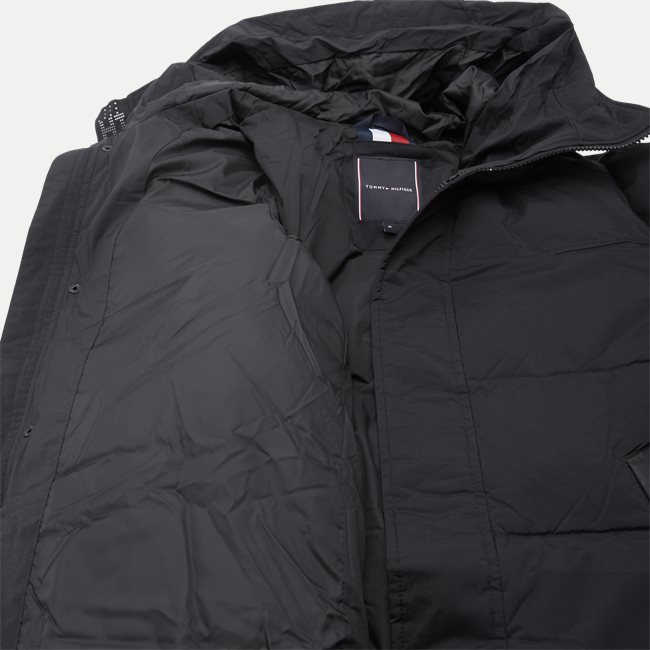 Stretch Nylon Hooded Bomber Jacket