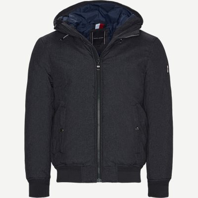 Structure Hooded Bomber Jacket Regular | Structure Hooded Bomber Jacket | Grå