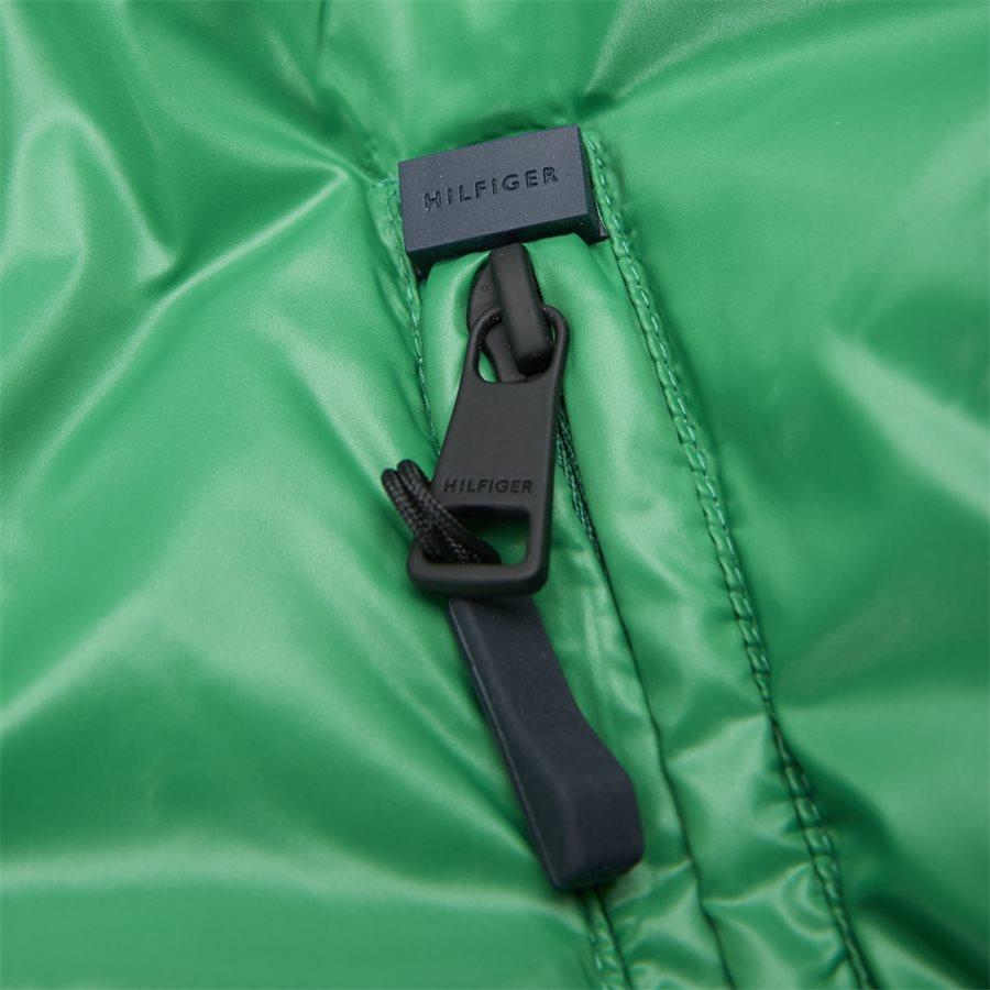 SHINY HOODED BOMBER - Jackets - Regular - GRØN - 8
