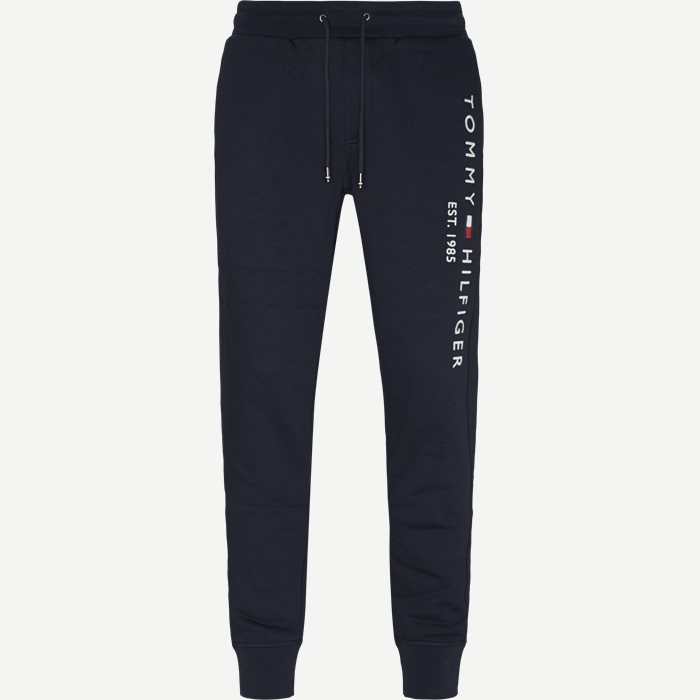 Basic Printed Sweatpants - Bukser - Regular - Blå