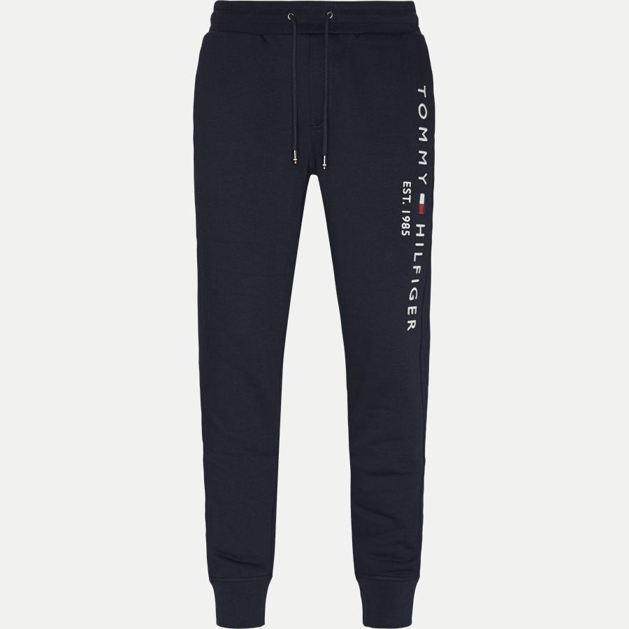BASIC BRANDED SWEATPANTS - Basic Printed Sweatpants - Bukser - Regular - NAVY - 1