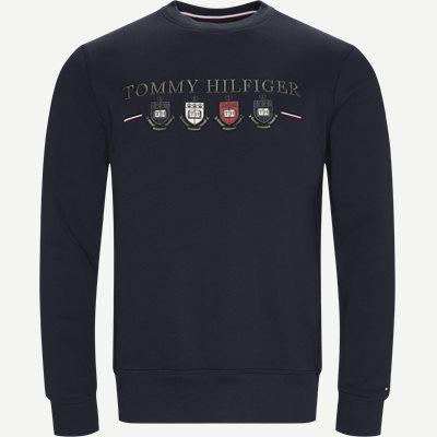 Multi Crest Sweatshirt Regular | Multi Crest Sweatshirt | Blå