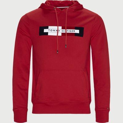 Hilfiger Logo Hoody Regular | Hilfiger Logo Hoody | Rød