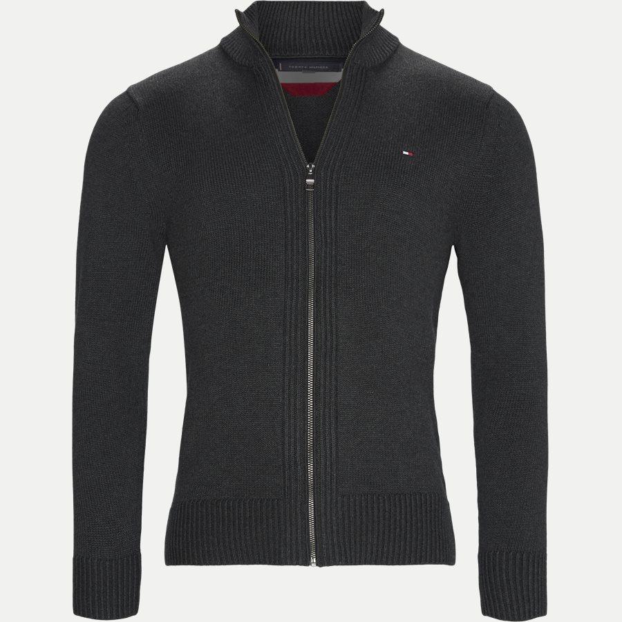 CHUNKY COTTON ZIP THROUGH - Chunky Cotton Zip Through Cardigan - Strik - Regular - KOKS - 1