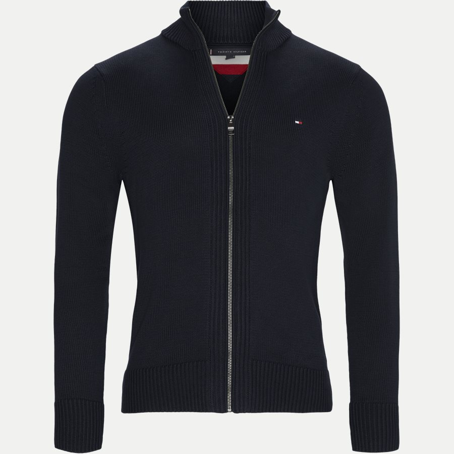 CHUNKY COTTON ZIP THROUGH - Chunky Cotton Zip Through Cardigan - Strik - Regular - NAVY - 1
