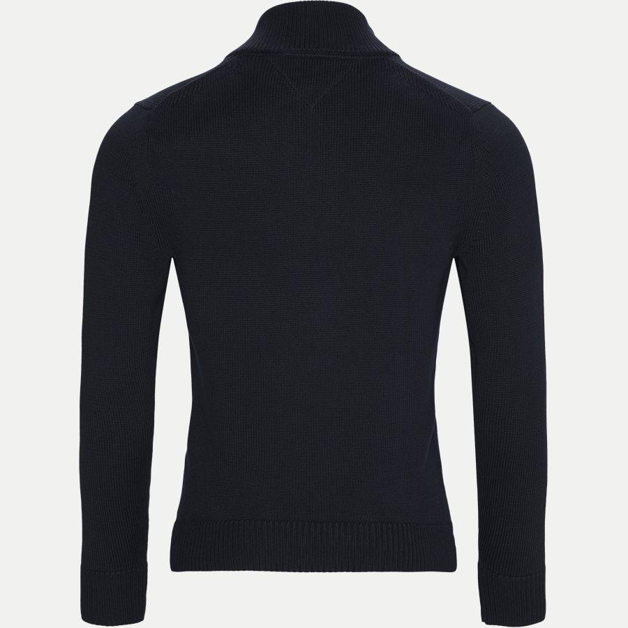 CHUNKY COTTON ZIP THROUGH - Chunky Cotton Zip Through Cardigan - Strik - Regular - NAVY - 2