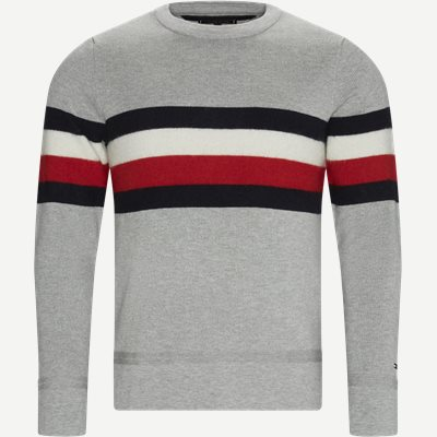 Soft Global Stripe Sweater Regular | Soft Global Stripe Sweater | Grå