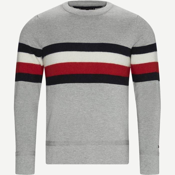 Soft Global Stripe Sweater - Strik - Regular - Grå