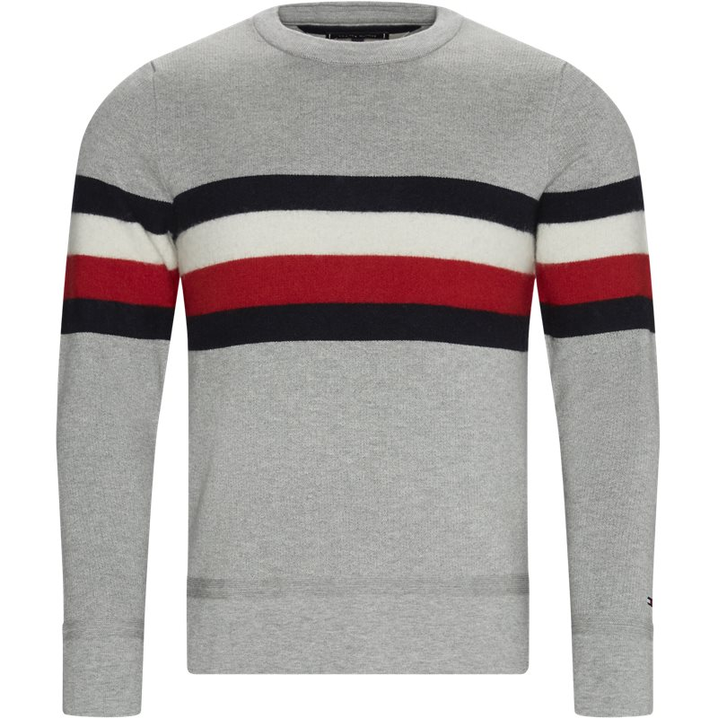 Tommy hilfiger - soft global stripe sweater fra tommy hilfiger på kaufmann.dk