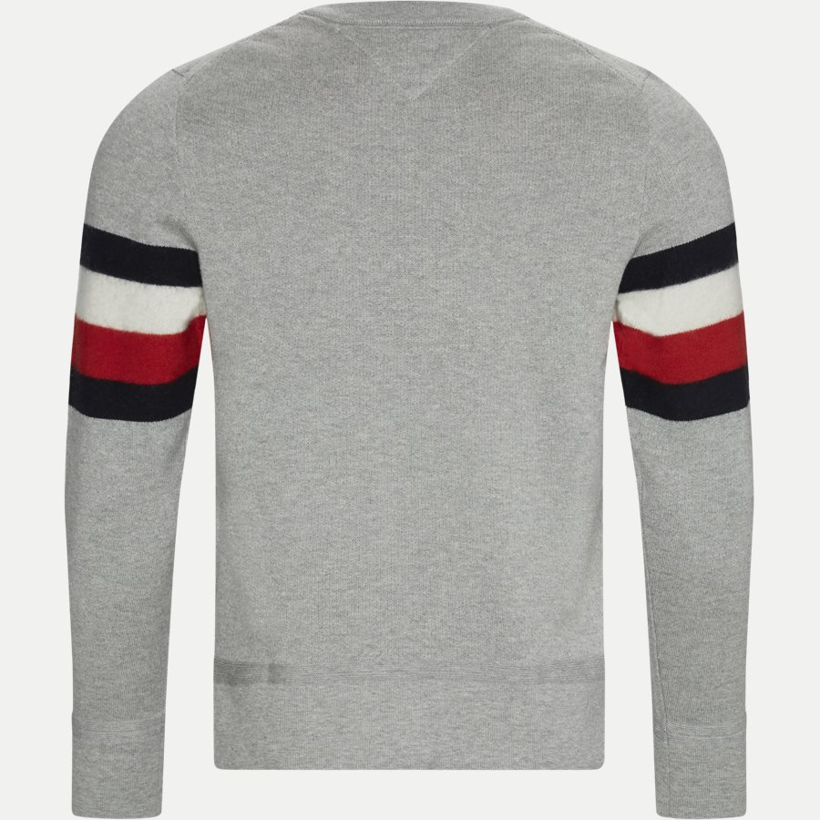 SOFT GLOBAL STRIPE SWEATER - Soft Global Stripe Sweater - Strik - Regular - GRÅ - 2