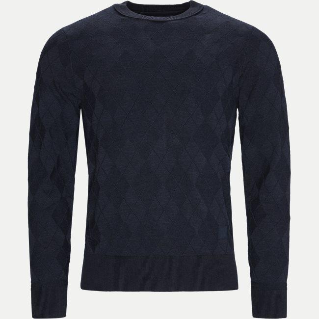 Tonal Textured Argyle Sweater