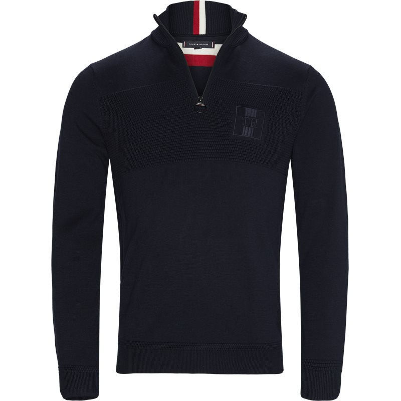 Image of   Tommy Hilfiger - Placed Structure Zip Mock