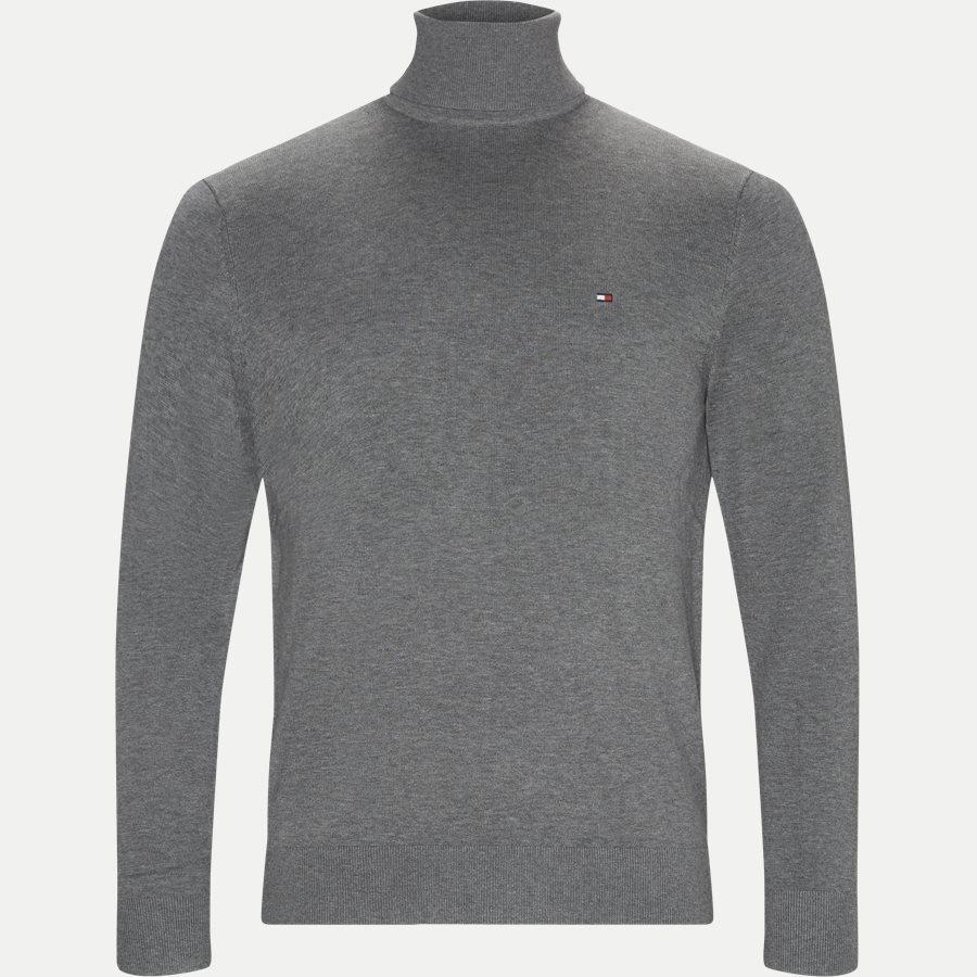 ORGANIC COTTON SILK ROLL NECK - Organic Cotton Silk Roll neck - Strik - Regular - GRÅ - 1
