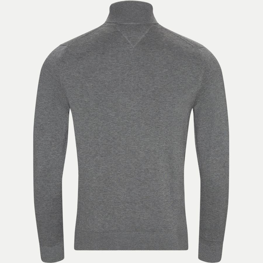 ORGANIC COTTON SILK ROLL NECK - Organic Cotton Silk Roll neck - Strik - Regular - GRÅ - 2