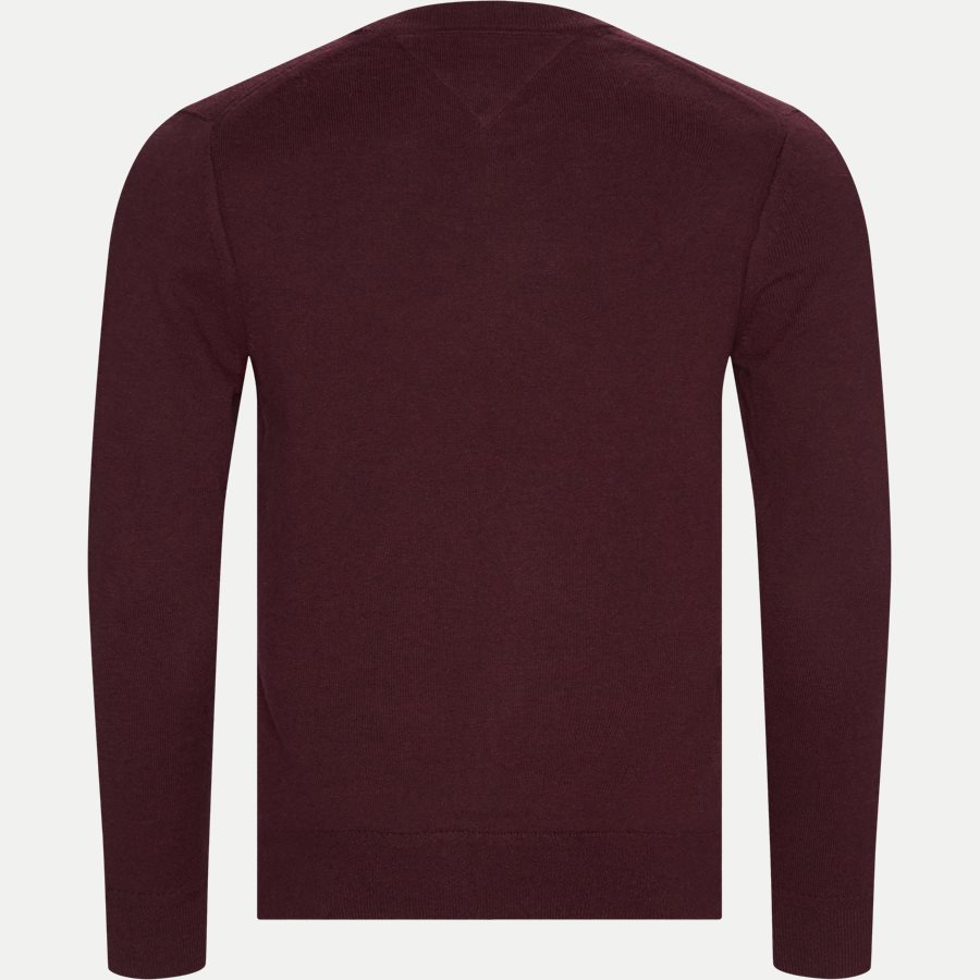 PIMA COTTON CASHMERE CREW NECK - Pima Cotton Cashmere Crew Neck - Strik - Regular - BORDEAUX - 2
