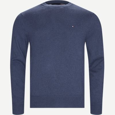 Pima Cotton Cashmere Crew Neck Regular | Pima Cotton Cashmere Crew Neck | Denim