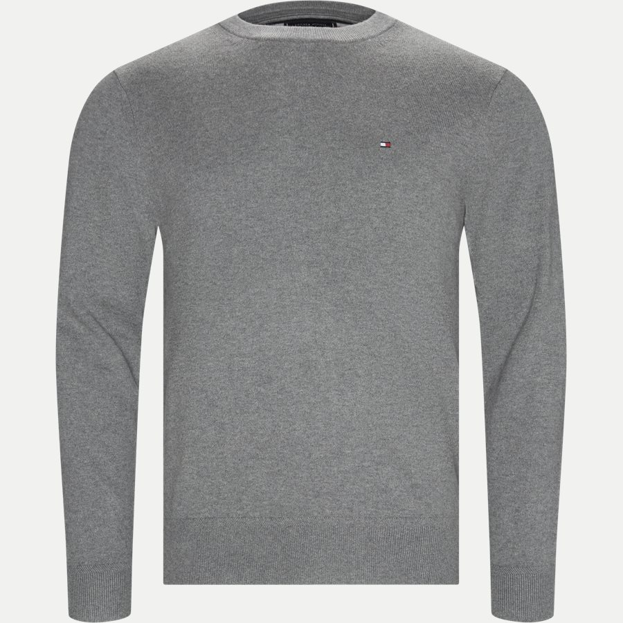 PIMA COTTON CASHMERE CREW NECK - Pima Cotton Cashmere Crew Neck - Strik - Regular - GRÅ - 1