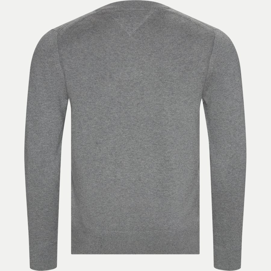 PIMA COTTON CASHMERE CREW NECK - Pima Cotton Cashmere Crew Neck - Strik - Regular - GRÅ - 2