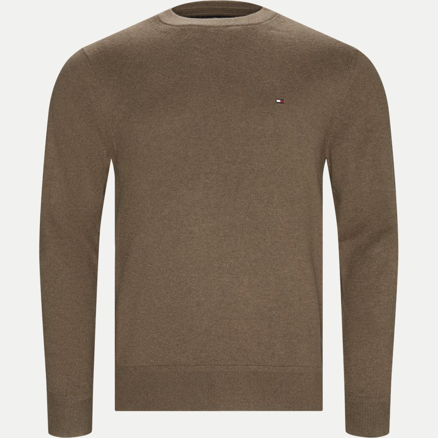 PIMA COTTON CASHMERE CREW NECK - Pima Cotton Cashmere Crew Neck - Strik - Regular - KHAKI - 1