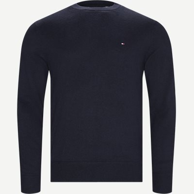 Pima Cotton Cashmere Crew Neck Regular | Pima Cotton Cashmere Crew Neck | Blå