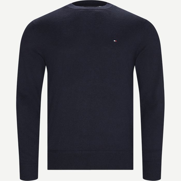 Pima Cotton Cashmere Crew Neck - Strik - Regular - Blå