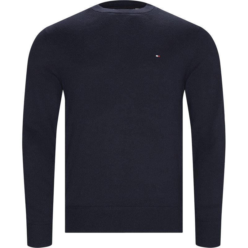tommy hilfiger Tommy hilfiger - pima cotton cashmere crew neck på kaufmann.dk