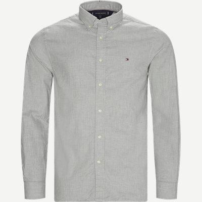 Flex Herringbone Shirt Regular   Flex Herringbone Shirt   Grå