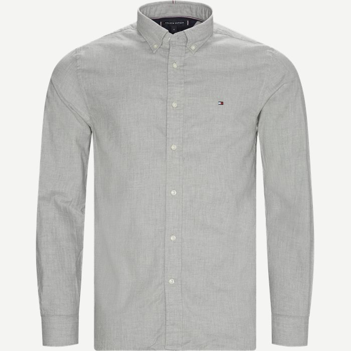 Flex Herringbone Shirt - Skjorter - Regular - Grå