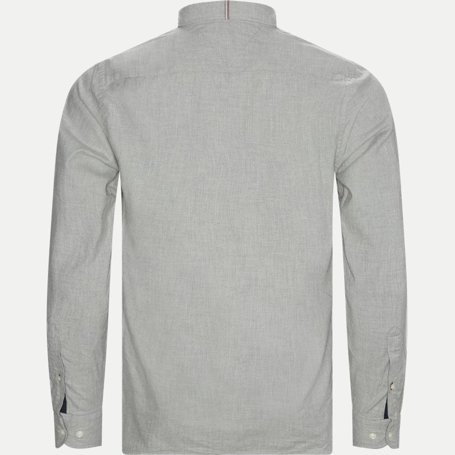 FLEX HERRINGBONE SHIRT - Flex Herringbone Shirt - Skjorter - Regular - GRÅ - 2