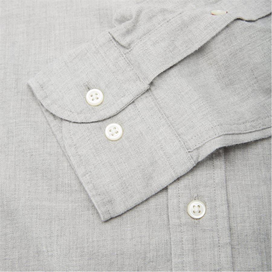 FLEX HERRINGBONE SHIRT - Flex Herringbone Shirt - Skjorter - Regular - GRÅ - 3