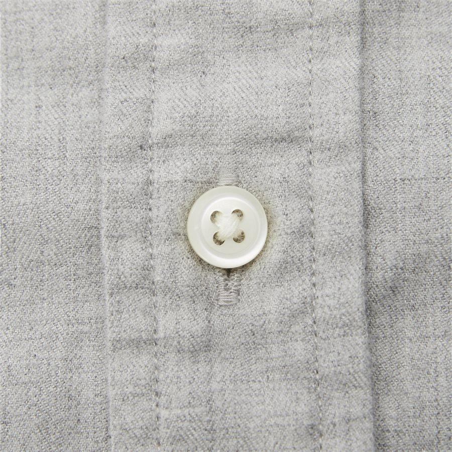 FLEX HERRINGBONE SHIRT - Flex Herringbone Shirt - Skjorter - Regular - GRÅ - 7