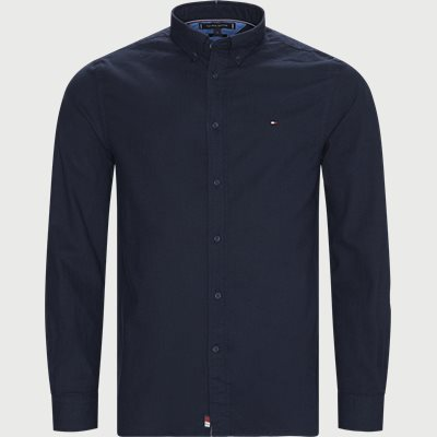 Flex Herringbone Shirt Regular | Flex Herringbone Shirt | Blå