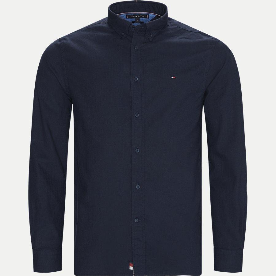 FLEX HERRINGBONE SHIRT - Flex Herringbone Shirt - Skjorter - Regular - NAVY - 1